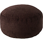 more details on HOME Tessa Fabric Footstool - Chocolate.