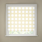 more details on 2ft White Semi Privacy Spots Roller Blind.