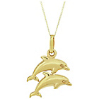 more details on 9ct Gold Double Dolphin Solid Look Pendant Necklace.
