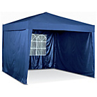 more details on HOME Waterproof 3x3m Blue Popup Garden Gazebo w/ Side Panels