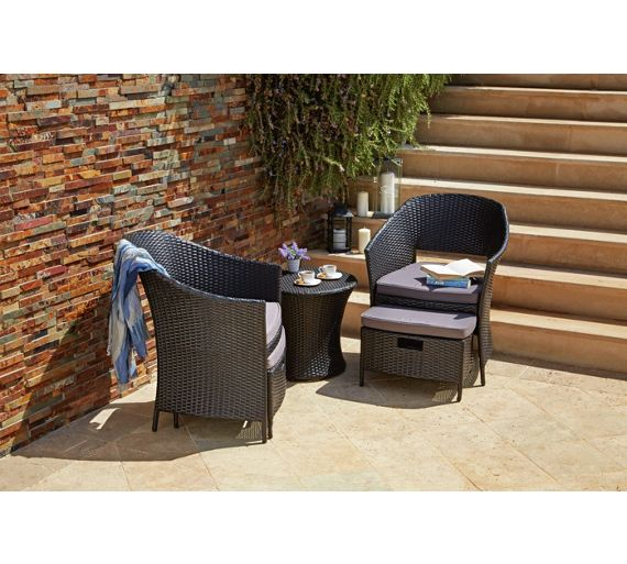 Argos Rattan Garden Table And Chairs: Buy Rattan Effect 2 Seater Egg Set With Stools At Argos.co
