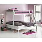 more details on Wooden White Triple Bunk Bed with Ashley Mattress.