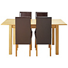 more details on Heart of House Clevedon Ext Table & 4 Chocolate Chairs.