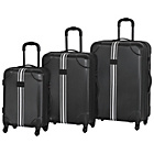 more details on IT Luggage Hi-Vis Black Expandable 4 Wheel Suitcase Small.