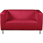more details on ColourMatch Moda Leather Compact Sofa - Poppy Red.