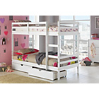 more details on Josie White Bunk Bed with Drawers and Elliott Mattress.