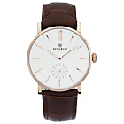 more details on Accurist Men's Silver Dial Brown Leather Strap Watch.
