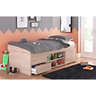 more details on Yanniek Oak Cabin Bed with Ashley Mattress.