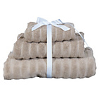more details on Heart Of House Ribbed Towel Bale - Stone