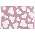 more details on Kit for Kids Nursery Rug - Pink with White Hearts.