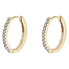 more details on 9ct Gold 0.10ct tw Diamond Single Row Hoop Earrings.