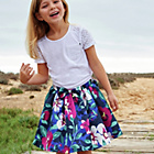 more details on Cherokee Girls Large Flower Print Skirt.