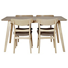 more details on Heart of House Afina Oak Veneer Dining Table & 4 Chairs.