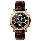 more details on Bulova Men's Rose Steel Watch with Brown Leather Strap.