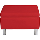 more details on ColourMatch Moda Leather Footstool - Poppy Red.