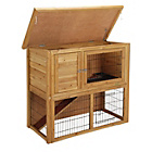 more details on Wooden Rabbit Hutch & Run.