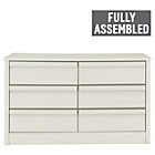 more details on Hygena Beijing 6 Drawer Chest - White