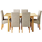 more details on Heart of House Clevedon Ext Table & 6 Floral Skirted Chairs.