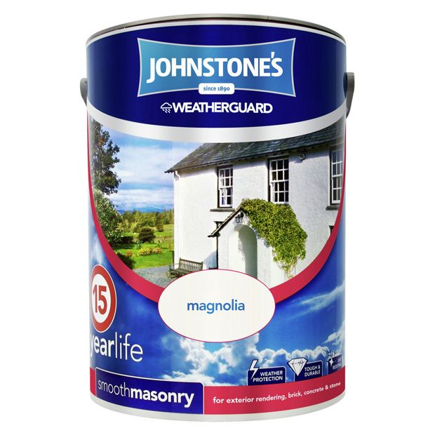 Buy johnstone 39 s smooth masonry paint 5l magnolia at your online shop for paint - Johnstones exterior paint set ...