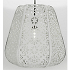 more details on Heart of House Lille Metal Lacework Shade - White.
