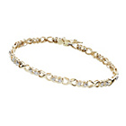 more details on 9ct Gold 0.25ct tw Diamond Hearts and Kisses Bracelet.