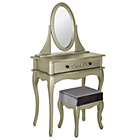 more details on Sophia Dressing Table, Stool & Mirror - Champagne.
