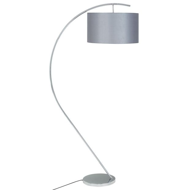 Buy heart of house bourne floor lamp grey at argoscouk for Argos wood floor lamp