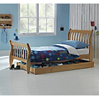 more details on Harry Sleigh Pine Bed with Storage & Ashley Mattress.