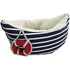 more details on Denim Sailor Boat Dog Bed.
