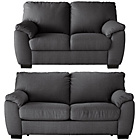 more details on Milano Fabric Sofa Bed and Regular Sofa - Charcoal.