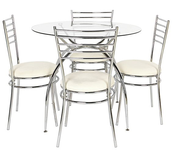 Buy Hygena Lusi Glass Dining Table And 4 Chairs