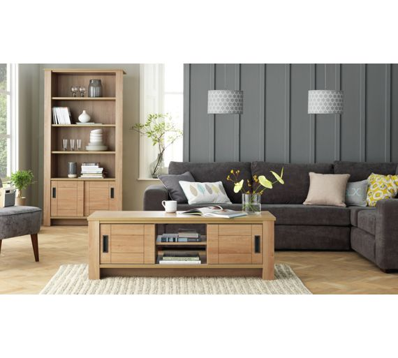 buy heart of house wetherby sliding door bookcase at argos. Black Bedroom Furniture Sets. Home Design Ideas