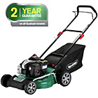 more details on Qualcast 46cm Wide Push Petrol Lawnmower - 125CC - Exp.