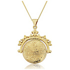 more details on 9ct Gold Round Spinner Locket Pendant