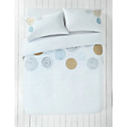 more details on Embroidered Circles Bedding Set - Double.