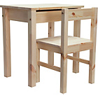 more details on Kids Scandinavia Desk and Chair - Pine.