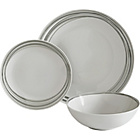 more details on ColourMatch 12 Piece Porcelain Dinner Set - Grey.