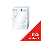 more details on Bosch WTE84305GB White Tumble Dryer - Instal/Del/Recycle.