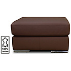 more details on Hygena Valenica Leather Footstool - Chocolate.