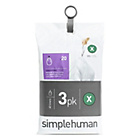 more details on simplehuman Bin Liner Code X 3 x 20 Pack 60 Liners.