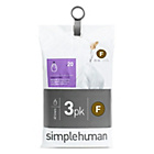 more details on simplehuman Bin Liner Code F 3 x 20 Pack 60 Liners.