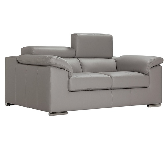 Buy hygena valencia 2 seater leather sofa grey at argos for Outlet sofas valencia