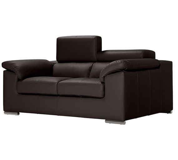 Buy hygena valencia 2 seater leather sofa chocolate at for Outlet sofas valencia