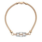 more details on 18ct Rose Gold Plated St. Silver Cubic Zirconia Set Bracelet