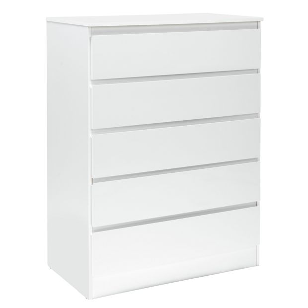 buy hygena inanna 5 drawer chest white at. Black Bedroom Furniture Sets. Home Design Ideas