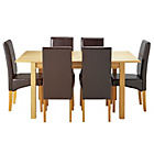 more details on Heart of House Clevedon Ext Table & 6 Chocolate Chairs.