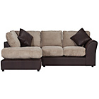 more details on HOME Bailey Regular Fabric Left Corner Sofa - Natural.