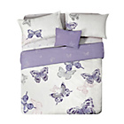 more details on HOME Butterfly Plum Bedding Set Bundle - Double.