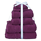 more details on HOME Zero Twist 6 Piece Towel Bale - Plum