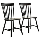 more details on Hygena Luna Pair of Black Dining Chairs.